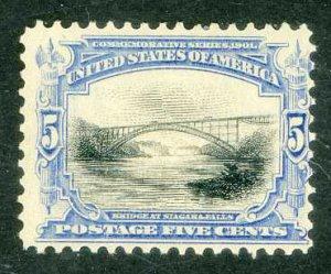 Scott 297 * 5c Bridge at Niagara Falls * 1901 * Unused