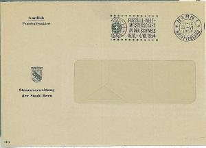 FOOTBALL -  POSTAL HISTORY - SWITZERLAND : COVER with special postmark 1954