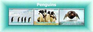 Chad 2016 Penguin Birds 3v Mint Souvenir Sheet S/S. (#79)