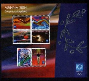 GREECE Scott 2019a  MNH** Olympic souvenir sheet