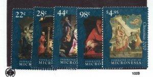 Sc #896-900 - Micronesia - 2010 - Christmas Set - MNH VF - superfleas - cv$14