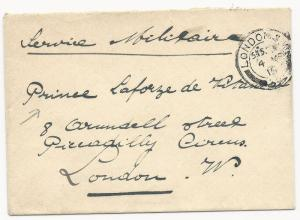 Great Britain WWI Military Letter London May 4, 1915