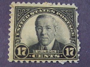 U.S.# 697-MINT/NEVER HINGED----BLACK----WOODROW WILSON------1931(#B)