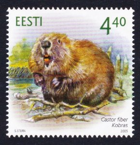 Estonia Eurasian Beaver Castor Fiber 1v SG#478
