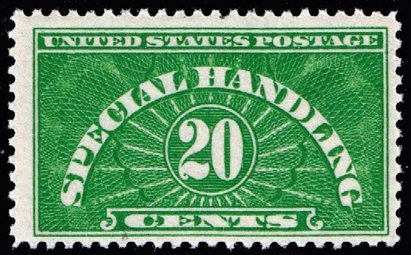 US STAMP BOB QE3 20c Special Handling 1955 MNH/OG
