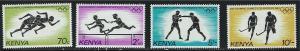 Kenya SC297-300 SummerOlympics 1984-LosAngeles-Running-Hurdles-Boxing-Hockey MNH