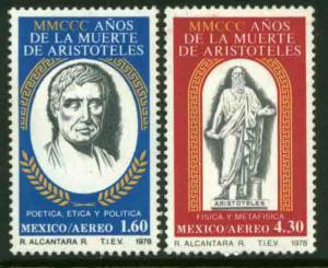 MEXICO C579-C580, Anniv. of the death of Aristotle. MNH
