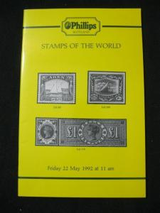 PHILLIPS AUCTION CATALOGUE 1992 STAMPS OF THE WORLD