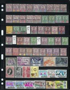 MALAYA-FEDERATION OF MALAYA-JOHORE-KEDAH-KELANTAN-MALACCA-NEGRI-PAHANG-250 MINT
