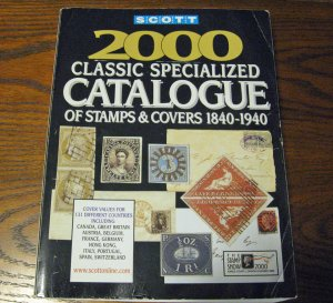 2000 Scott Classic Specialized Catalogue of Stamps & Covers