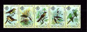 Seychelles 429a MNH 1979 Birds strip of 5