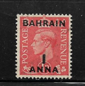 BAHRAIN, 53, USED,GREAT BRITAIN STAMPS SURCHD