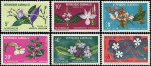 Gabon 1972 Sc 284-289 Flowers CV $5.95
