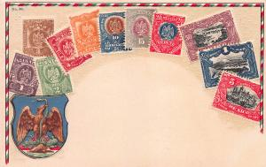 Mexico Stamp Postcard, #30, Published by Ottmar Zieher, Circa 1905-10, Unused