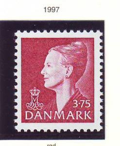 Denmark Sc 892 1997 3.75 kr red Queen stamp mint NH