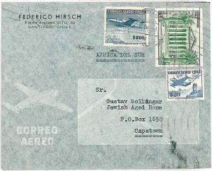 POSTAL HISTORY - CHILE : COVER to SOUTH AFRICA 1961