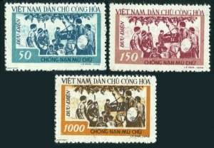 Viet Nam 64-66,MNH.Michel 67-69. Anti-illiteracy campaign,1958.