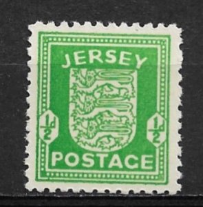 1942 German occupied Jersey N1 ½d Coat of Arms MNH