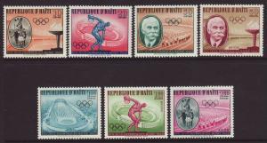 1960 Haiti 2nd Olympic Set U/M