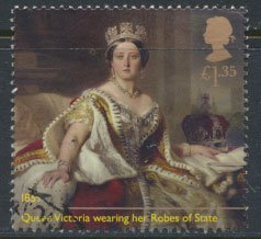 GB Used 2019 Queen Victoria Anniversary £1.35 value Queen with Robes  of State