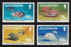 Ascension Sea Shells 4v 1983 MNH SG#350-353
