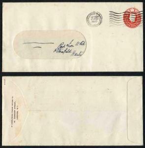 ES61 KGVI 1d Scarlet Stamped to order envelope
