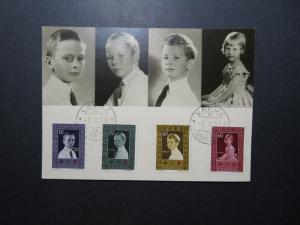 Liechtenstein SC# 293 - 296 on Maxium Card / 1957 Postmarked - Z11840