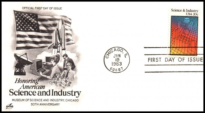 US 2031 Science and Industry Artcraft U/A FDC