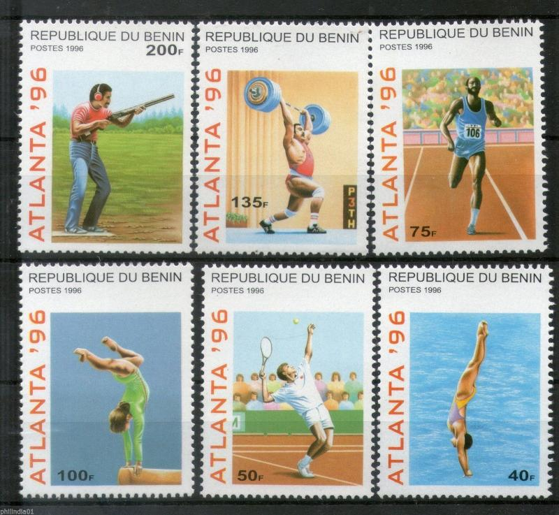 Benin 1996 Olympic Games Atlanta Sports Shooting Diving Sc 829-34 MNH # 3795