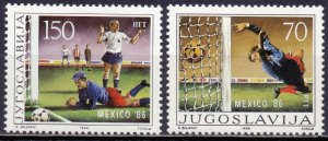 Yugoslavia. 1986. 2152-53. Football. MNH.