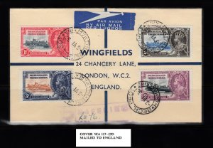 BECHUANALAND SC# 117-120 COVER TO ENGLAND - SEE PICTURE
