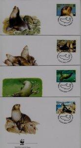 Tristan da Cunha 747-50 FDC WWF-04/Seals