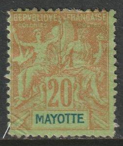 Mayotte 1892 Sc 9 MH DG