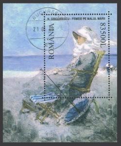 Romania 4560 sheet,CTO.Michel 5707 Bl.326. Paintings 2003.N.Grigorescu.