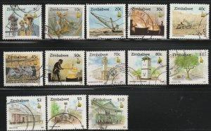 Zimbabwe, #724-735 Used From 1995/96,  short set