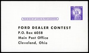USA UX46 Mint (Pre-Printed) Ford Dealer Contest