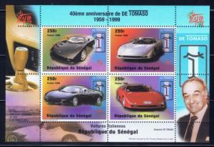 Senegal 1346 NH 1999 Automobiles souvenir sheet
