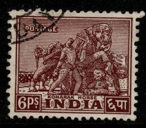 INDIA SG310 1949 6p PURPLE-BROWN USED