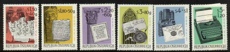 Austria B315-20 MNH History of Writing, Typewriter