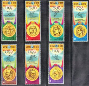 ECUATORIAL GUINEA  CTO STAMP LOT 6  OLYMPICS  SEE SCAN