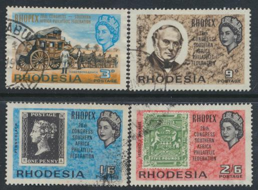 Rhodesia   SG 388 - 391  SC# 237 - 240   Used  ROPEX 1966 see details