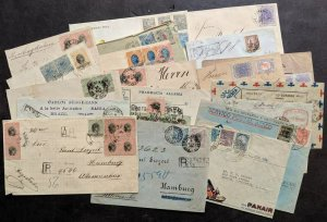 EDW1949SELL : BRAZIL Fantastic collection of 19 covers JUST AS RECEIVED. Great