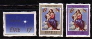 Ireland Sc 603-5 1984 Christmas stamp set mint NH