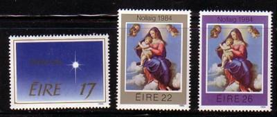 Ireland Sc 603-5 1984 Christmas stamp set mint NH