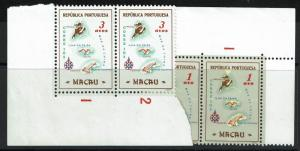 Macao SC# 383 and 384, Mint Never Hinged, pairs -  Lot 052817
