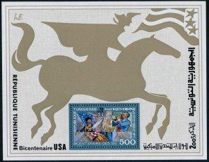 Tunisia 685-686,686 imperf,MNH.Michel 895-896 Bl.15A-15B. US-200.Spirit of 1776.