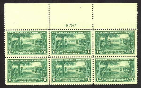 #617, Mint Wide Top PB/6, XF/Superb-OG-NH, A fabulous PB!