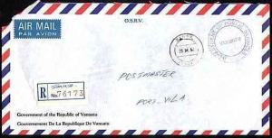 NEW HEBRIDES VANUATU 1991 Offical registered cover TANNA to Port Vila