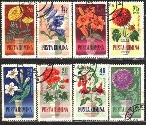 Romania. 1964. 2268-75. Flowers, flora. USED.