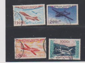 FRANCE AIR MAIL#C29-C32(4) STAMPS USED .LOT#217